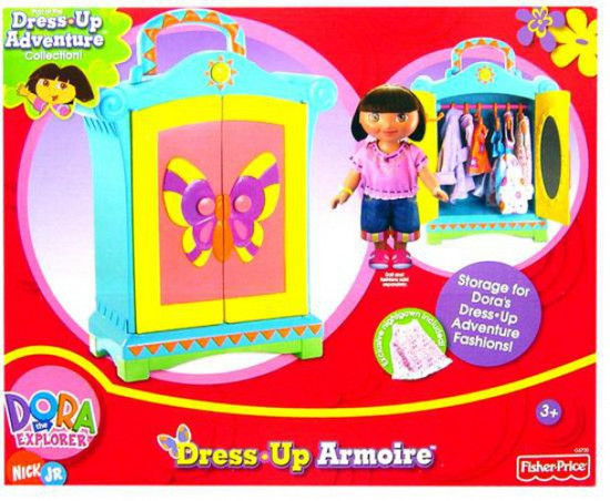 Fisher Price Dora the Explorer Dress-Up Adventure Collection Dress Up Armoire Accessory