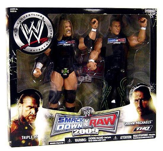 WWE Wrestling Smackdown vs. RAW 2009 Superstars Triple H & Shawn Michaels Action Figure 2-Pack