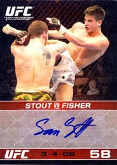 Topps UFC 2009 Round 1 Sam Stout Signature Card Autograph Card