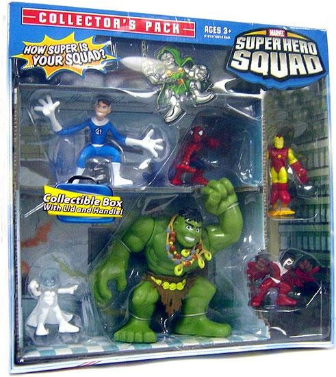 Marvel Super Hero Squad Collector's Pack Exclusive Action Figure 6-Pack [Falcon, Emma Frost, Iron Man, Spider-Man, Mr. Fantastic & Hulk]