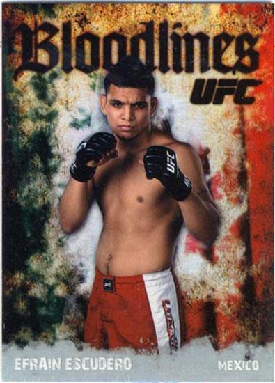 Topps UFC 2009 Round 2 Bloodlines Efrain Escudero BL-3