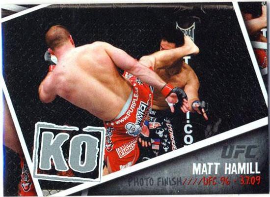 Topps UFC 2009 Round 2 Photo Finish Matt Hamill PF-11