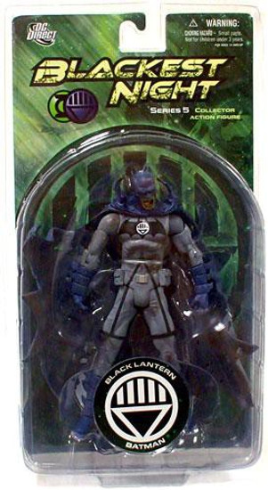 DC Green Lantern Blackest Night Series 5 Black Lantern Batman Action Figure