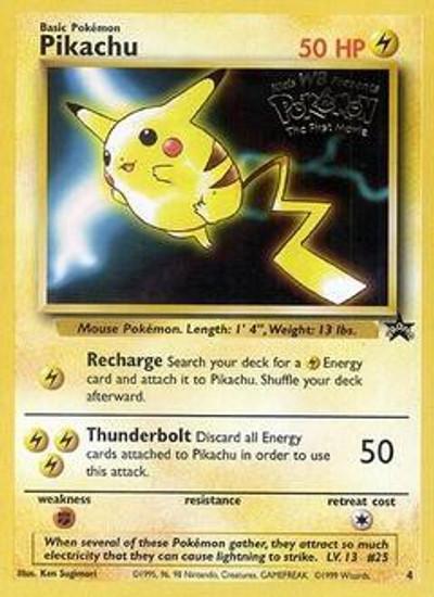 Pokemon Promo Cards WotC Promo Pikachu #4