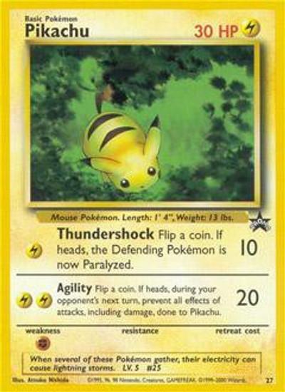 Pokemon Promo Cards WotC Promo Pikachu #27