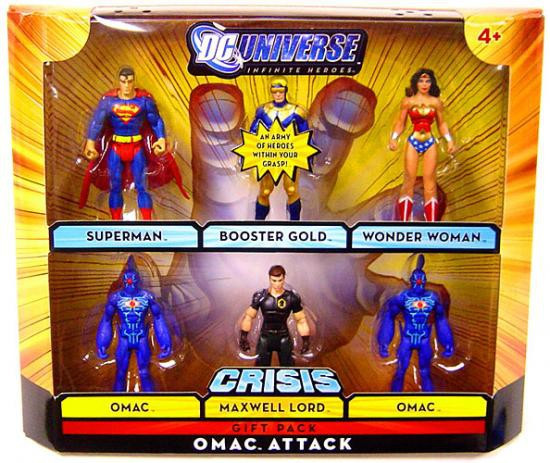 DC Universe Crisis Infinite Heroes Omac Attack Exclusive Action Figure Set