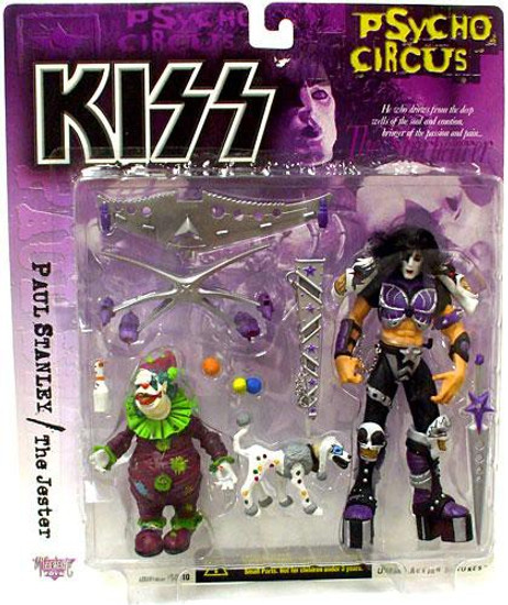 McFarlane Toys KISS Psycho Circus Paul Stanley & The Jester Action Figure 2-Pack