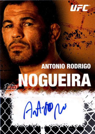 Topps UFC 2010 Championship Antonio Rodrigo Nogueira Autograph Fighters & Personalities Autograph Card FA-ARN