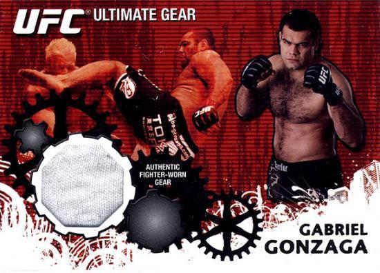 Topps UFC 2010 Championship Ultimate Gear Relic Gabriel Gonzaga UG-GG