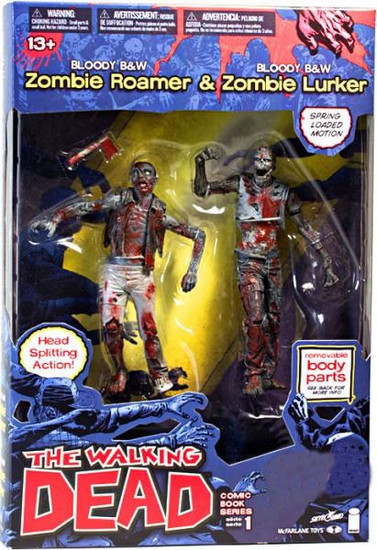 McFarlane Toys The Walking Dead Comic Bloody Black & White Zombie Roamer & Zombie Lurker Exclusive Action Figure 2-Pack