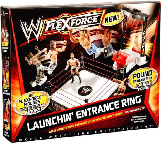 WWE Wrestling FlexForce Launchin' Entrance Ring Action Figure Playset