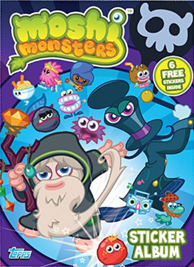 Moshi Monsters Topps Series 2 Sticker Album [Purple]