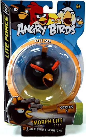Angry Birds Lite Force Morph Lite Series 1 Black Bird Flashlight