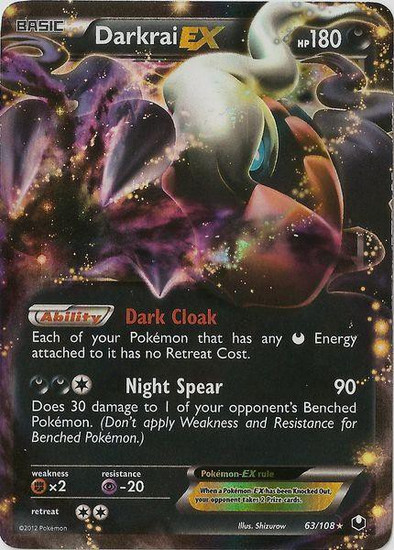 Pokemon Black & White Dark Explorers Ultra Rare Darkrai EX #63