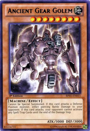 YuGiOh Battle Pack: Epic Dawn Rare Ancient Gear Golem BP01-EN011