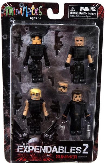 The Expendables 2 MiniMates Expendables 2 Minifigure 4-Pack [Summer]