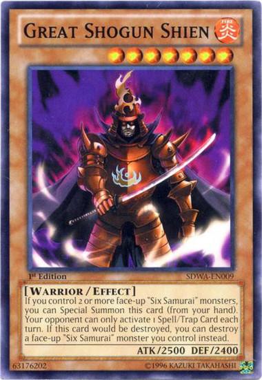 YuGiOh Trading Card Game Samurai Warlords Structure Deck Common Great Shogun Shien SDWA-EN009