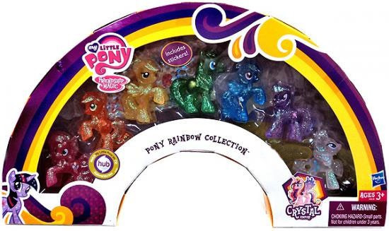 My Little Pony Friendship is Magic Crystal Empire Pony Rainbow Collection Exclusive Figure Set