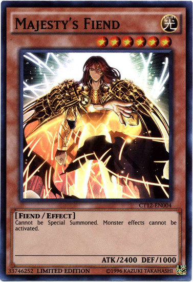YuGiOh 2015 Mega Tin Super Rare Majesty's Fiend CT12-EN004