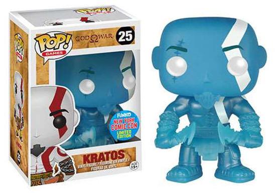 Funko God of War POP! Games Kratos Exclusive Vinyl Figure #25 [Blue, Glow-in-the-Dark]