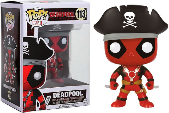 Funko POP! Marvel Deadpool Exclusive Vinyl Bobble Head #113 [Pirate]
