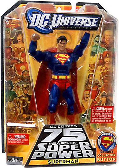 DC Universe 75 Years of Super Power Classics Kilowog Series Superman Action Figure [Collector Button]