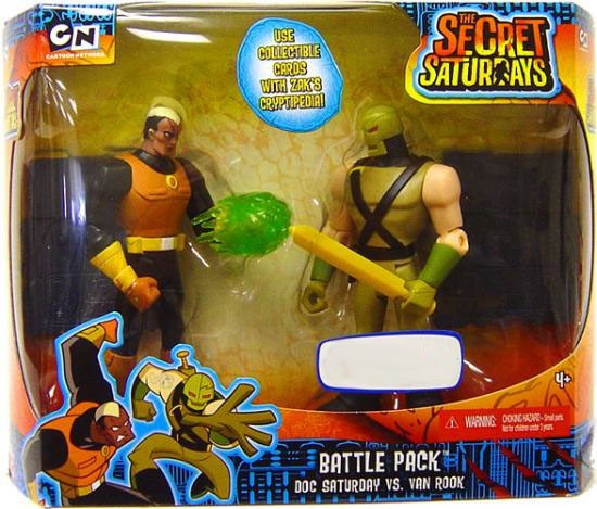 The Secret Saturdays Doc Saturday vs. Van Rook Exclusive Action Figure 2-Pack