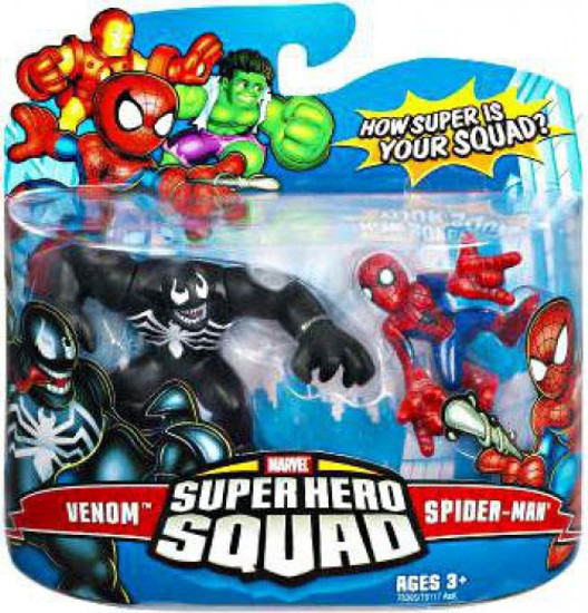 Marvel Super Hero Squad Series 7 Venom & Spider-Man 3-Inch Mini Figure 2-Pack