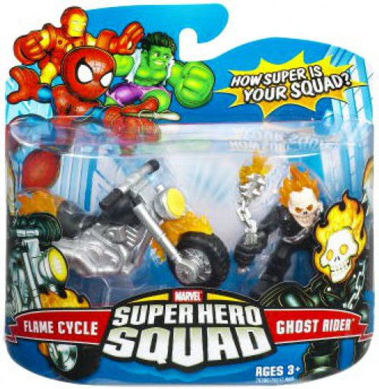 Marvel Super Hero Squad Series 7 Ghost Rider & Flame Cycle 3-Inch Mini Figure 2-Pack