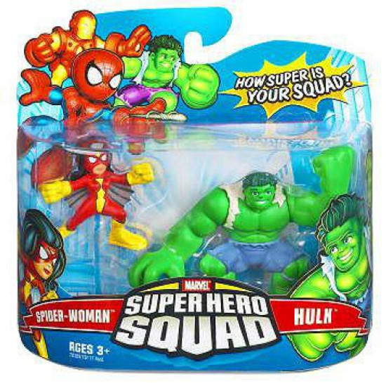 Marvel Super Hero Squad Series 6 Spider-Woman & Hulk 3-Inch Mini Figure 2-Pack