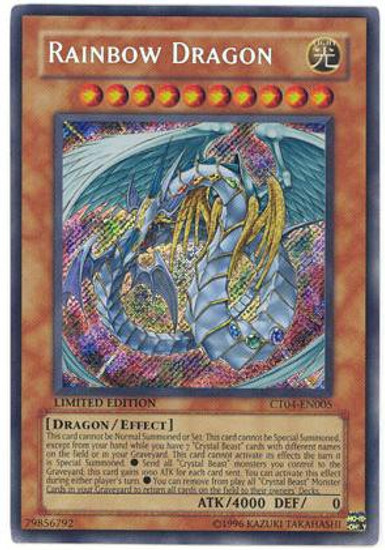 YuGiOh 2007 Collector Tin Secret Rare Rainbow Dragon CT04-EN005