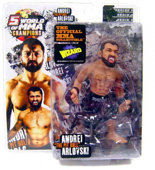 UFC World of MMA Champions Series 3 Andrei Arlovski Exclusive Action Figure [With Maximus]