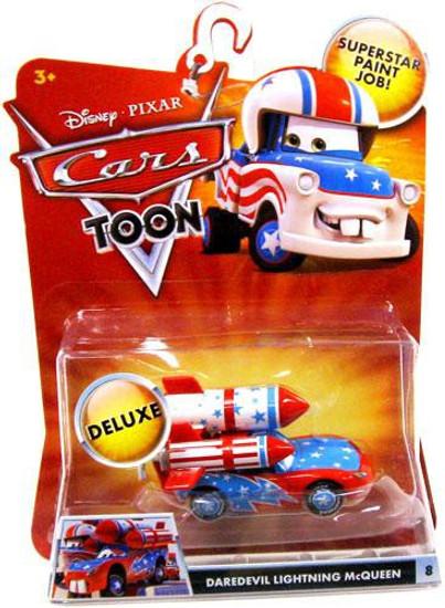 Disney / Pixar Cars Cars Toon Deluxe Oversized Daredevil Lightning McQueen Diecast Car