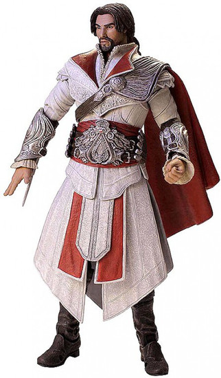 NECA Assassin's Creed Brotherhood Ezio Exclusive Action Figure [Ivory Assassin, Unhooded]