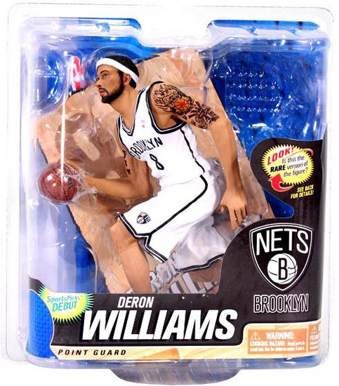 McFarlane Toys NBA Brooklyn Nets Sports Picks Series 22 Deron Williams Action Figure [White Jersey]