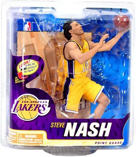 McFarlane Toys NBA Los Angeles Lakers Sports Picks Series 22 Steve Nash Action Figure [Yellow Jersey]