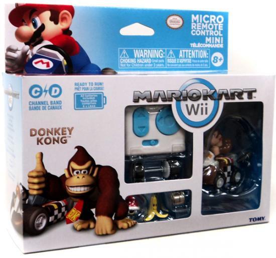 Super Mario Mario Kart Wii Micro Remote Control Tomy Donkey Kong R/C Vehicle