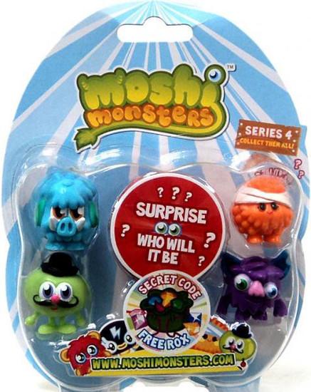 Moshi Monsters Moshlings Series 4 Mini Figure 5-Pack