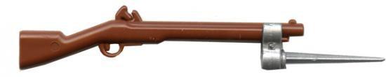 BrickArms Flintlock Musket 2.5-Inch [Brown with Silver Bayonet]