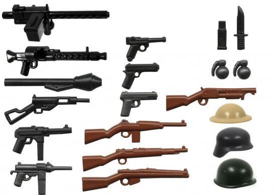 BrickArms World War II 2.5-Inch Weapons Pack [Version 3]