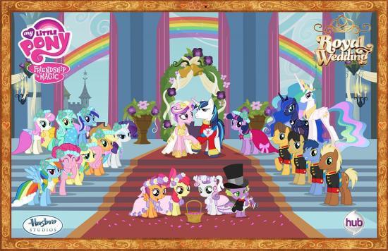 My Little Pony Friendship is Magic Hasbro Studios Royal Wedding 11-Inch Poster