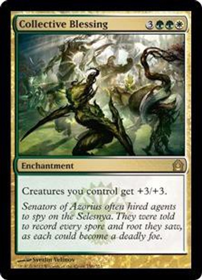 MtG Return to Ravnica Rare Collective Blessing #150