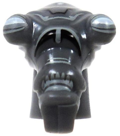 Star Wars Dark Gray Zombie Genosian Head Minifigure Head [Loose]