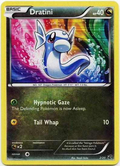 Pokemon Trading Card Game Dragon Vault Rare Holo Dratini #2