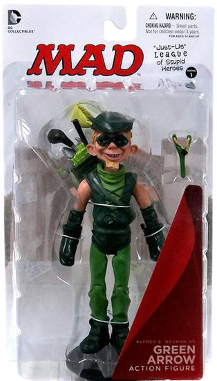 DC MAD Just Us League of Stupid Heroes Alfred E. Neuman as Green Arrow Action Figure