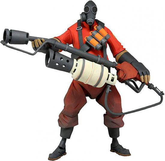 NECA Team Fortress 2 RED Series 1 The Pyro Action Figure