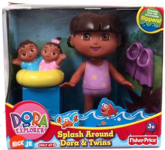 Fisher Price Dora the Explorer Splash Around Dora & Twins Doll Set