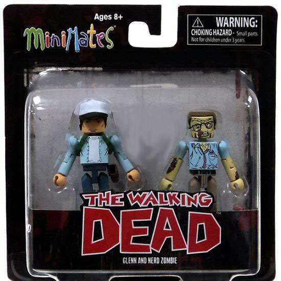 The Walking Dead Minimates Exclusives Glenn & Nerd Zombie Exclusive Minifigure 2-Pack