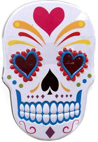 Sugar Skull Candy Tin [White]
