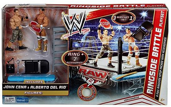 WWE Wrestling Ringside Battle Exclusive Action Figure Playset [John Cena & Alberto Del Rio]